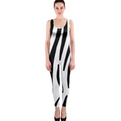 Seamless Zebra A Completely Zebra Skin Background Pattern OnePiece Catsuit