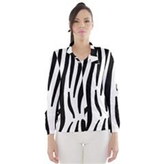Seamless Zebra A Completely Zebra Skin Background Pattern Wind Breaker (women)