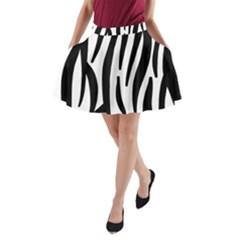 Seamless Zebra A Completely Zebra Skin Background Pattern A Line Pocket Skirt