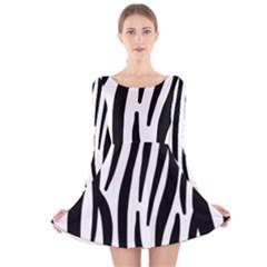Seamless Zebra A Completely Zebra Skin Background Pattern Long Sleeve Velvet Skater Dress