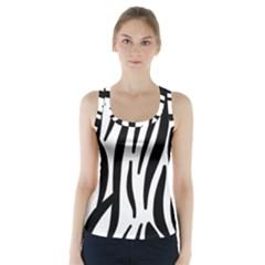 Seamless Zebra A Completely Zebra Skin Background Pattern Racer Back Sports Top