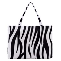 Seamless Zebra A Completely Zebra Skin Background Pattern Medium Zipper Tote Bag