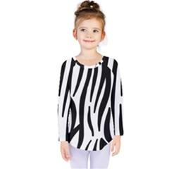 Seamless Zebra A Completely Zebra Skin Background Pattern Kids  Long Sleeve Tee