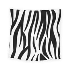 Seamless Zebra A Completely Zebra Skin Background Pattern Square Tapestry (small)