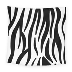 Seamless Zebra A Completely Zebra Skin Background Pattern Square Tapestry (large)