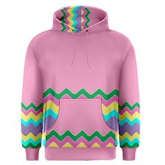 Easter Chevron Pattern Stripes Men s Pullover Hoodie