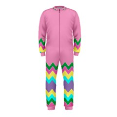 Easter Chevron Pattern Stripes OnePiece Jumpsuit (Kids)