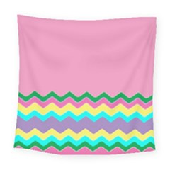 Easter Chevron Pattern Stripes Square Tapestry (large)