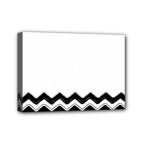 Chevrons Black Pattern Background Mini Canvas 7  X 5