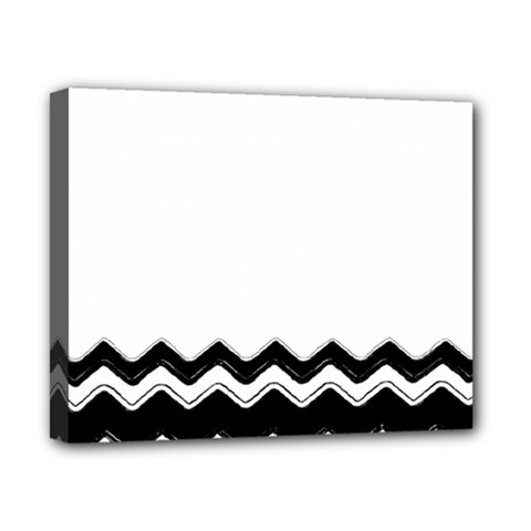 Chevrons Black Pattern Background Canvas 10  X 8