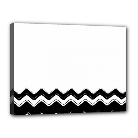 Chevrons Black Pattern Background Canvas 16  X 12