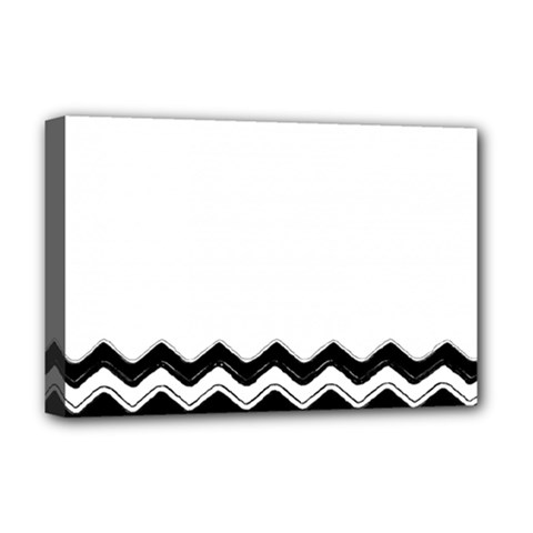 Chevrons Black Pattern Background Deluxe Canvas 18  X 12