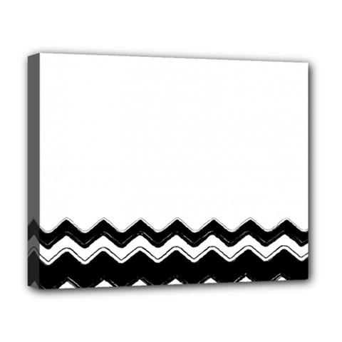 Chevrons Black Pattern Background Deluxe Canvas 20  X 16