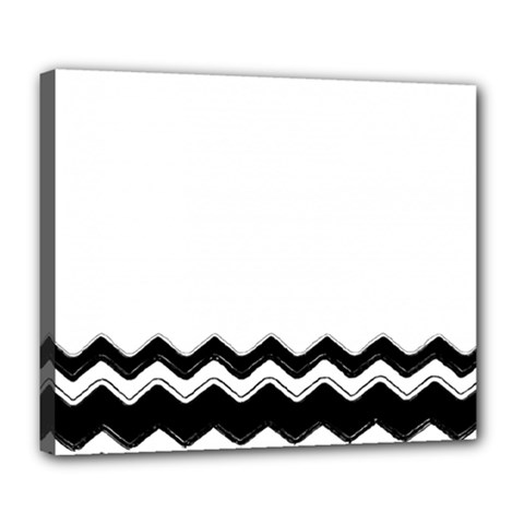 Chevrons Black Pattern Background Deluxe Canvas 24  X 20