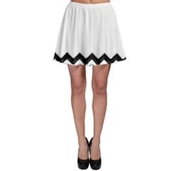 Chevrons Black Pattern Background Skater Skirt