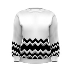 Chevrons Black Pattern Background Women s Sweatshirt