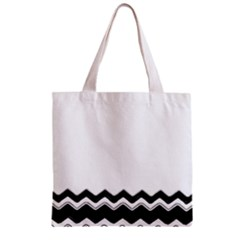 Chevrons Black Pattern Background Zipper Grocery Tote Bag