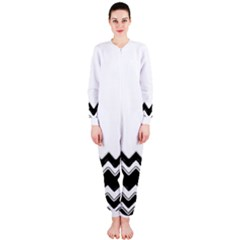 Chevrons Black Pattern Background Onepiece Jumpsuit (ladies)