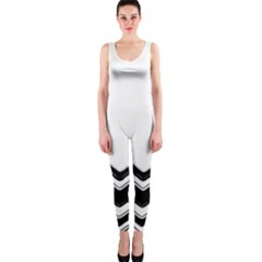 Chevrons Black Pattern Background OnePiece Catsuit