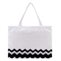 Chevrons Black Pattern Background Medium Tote Bag