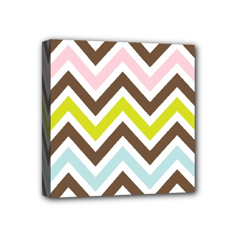 Chevrons Stripes Colors Background Mini Canvas 4  X 4