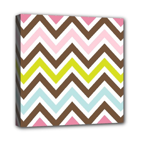 Chevrons Stripes Colors Background Mini Canvas 8  X 8