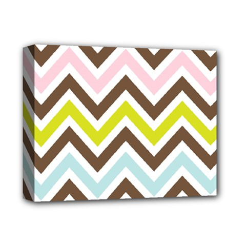 Chevrons Stripes Colors Background Deluxe Canvas 14  X 11