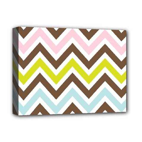 Chevrons Stripes Colors Background Deluxe Canvas 16  X 12