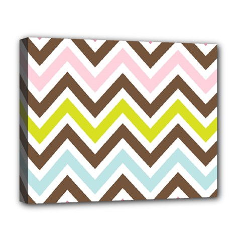 Chevrons Stripes Colors Background Deluxe Canvas 20  X 16
