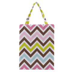 Chevrons Stripes Colors Background Classic Tote Bag