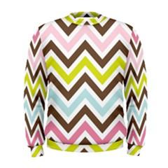 Chevrons Stripes Colors Background Men s Sweatshirt