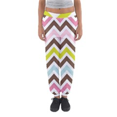 Chevrons Stripes Colors Background Women s Jogger Sweatpants