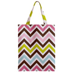Chevrons Stripes Colors Background Zipper Classic Tote Bag