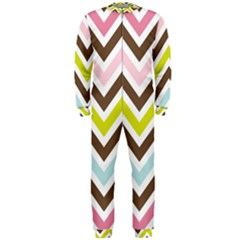 Chevrons Stripes Colors Background Onepiece Jumpsuit (men)