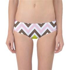 Chevrons Stripes Colors Background Classic Bikini Bottoms