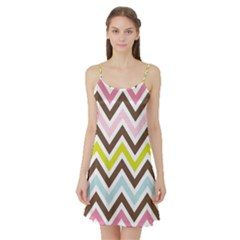 Chevrons Stripes Colors Background Satin Night Slip