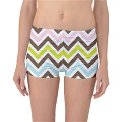 Chevrons Stripes Colors Background Reversible Bikini Bottoms