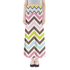 Chevrons Stripes Colors Background Maxi Skirts
