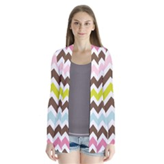 Chevrons Stripes Colors Background Cardigans