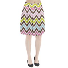 Chevrons Stripes Colors Background Pleated Skirt