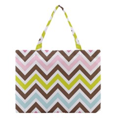 Chevrons Stripes Colors Background Medium Tote Bag