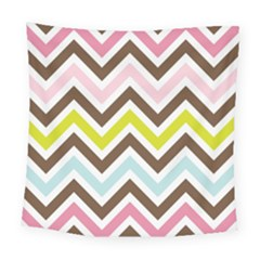 Chevrons Stripes Colors Background Square Tapestry (large)
