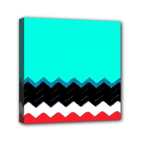 Pattern Digital Painting Lines Art Mini Canvas 6  x 6
