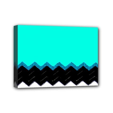 Pattern Digital Painting Lines Art Mini Canvas 7  X 5