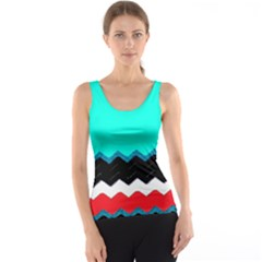 Pattern Digital Painting Lines Art Tank Top