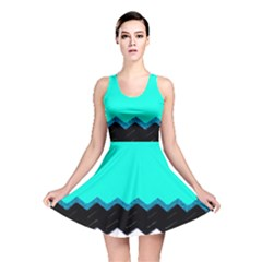 Pattern Digital Painting Lines Art Reversible Skater Dress