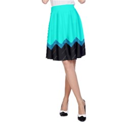 Pattern Digital Painting Lines Art A Line Skirt