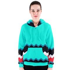 Pattern Digital Painting Lines Art Women s Zipper Hoodie