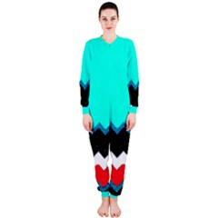 Pattern Digital Painting Lines Art OnePiece Jumpsuit (Ladies)