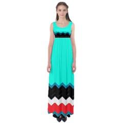 Pattern Digital Painting Lines Art Empire Waist Maxi Dress